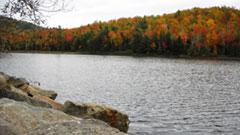 Fall foliage near Lake Placid