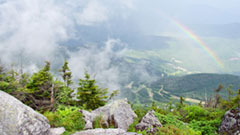 View from the summit of whiteface mountain