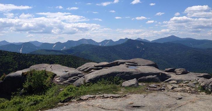beautiful mountain summit view