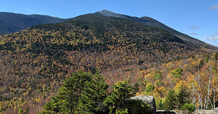 summit of mountain in fall
