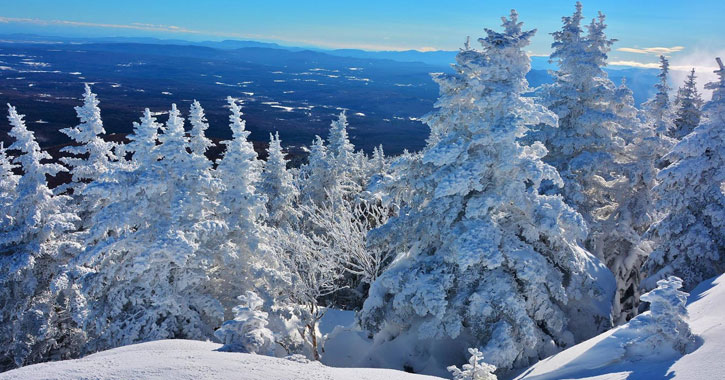striking snow scenery