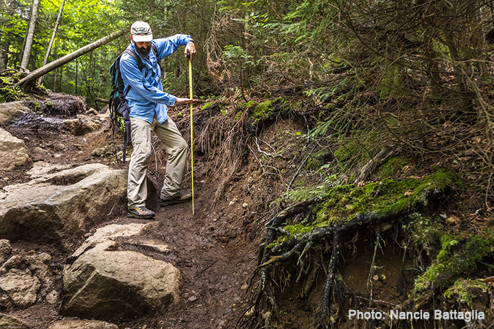 Eroded trail in the Adirondacks