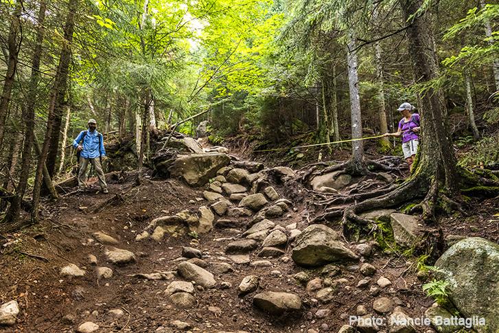 trail in the Adirondacks