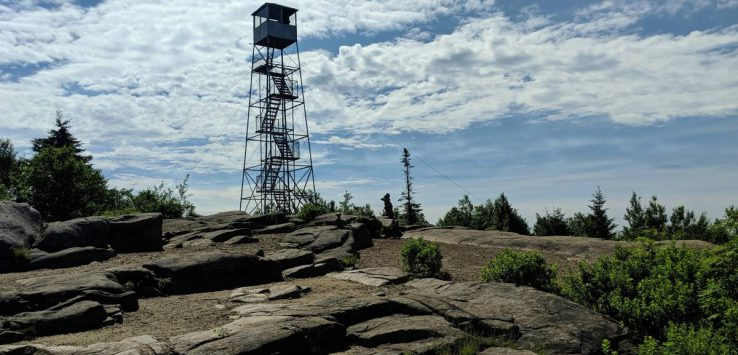 fire tower on mountain