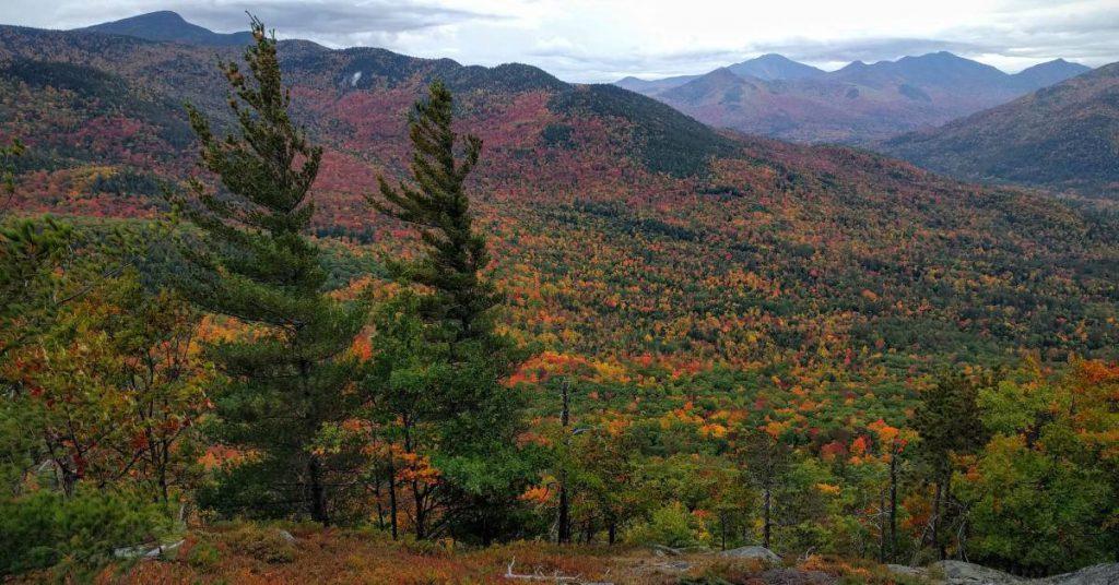 fall colors across a mountain