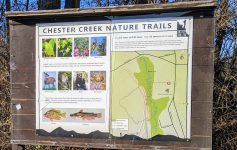 Chester Creek Nature Trails sign