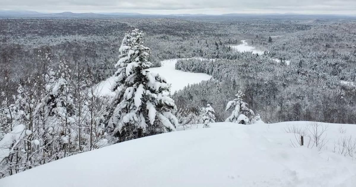 winter summit scene
