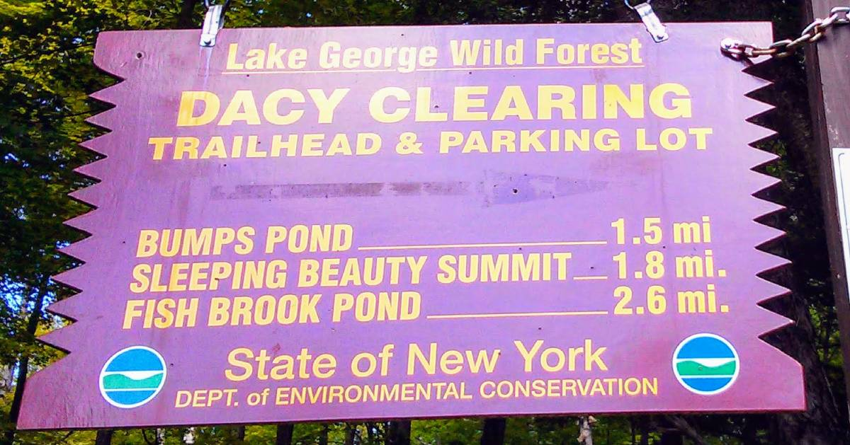 Dacy Clearing sign