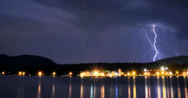 Lightning over Lake George
