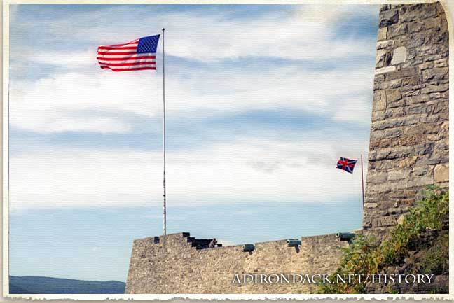 american flag at a fort