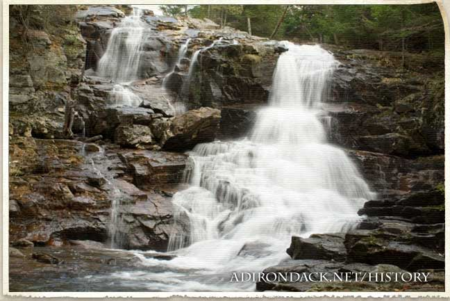 waterfall in the adirondacks