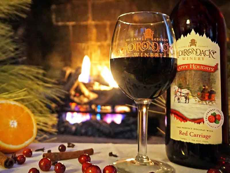 red carriage holiday wine bottle