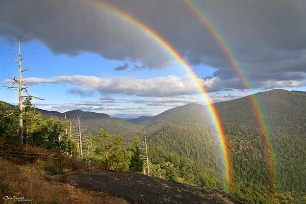 Double Rainbow over the mountains