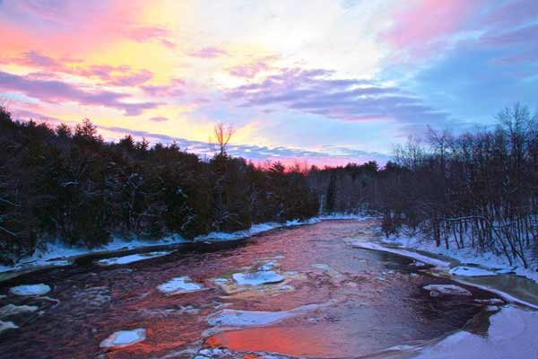 Franklin Ames: Saranac River, Saranac, NY