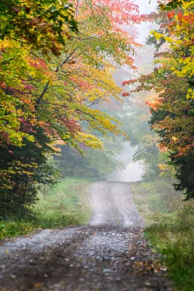 Country road in the Adirondacks