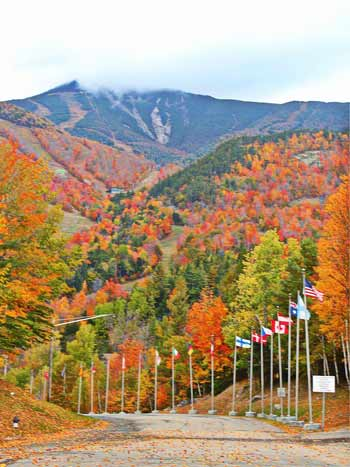Whiteface Mountain in the fall