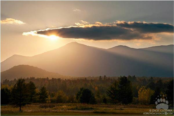 sunset over whiteface mountain