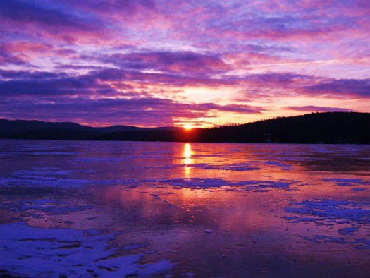 Early Morning Icefishing on Lake George