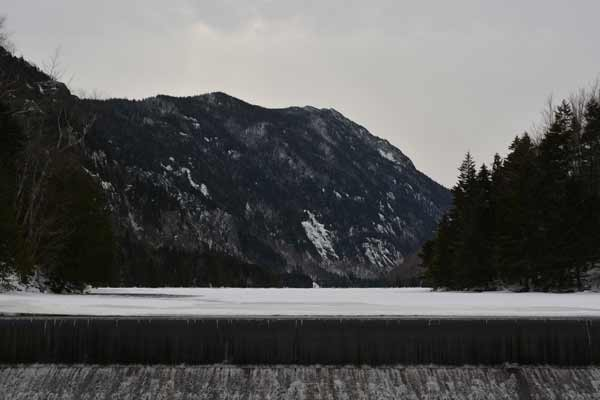 Mark Scirocco: Looking over Ausable Dam.