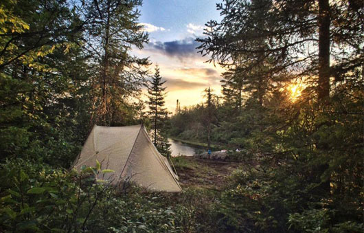campsite near raquette river