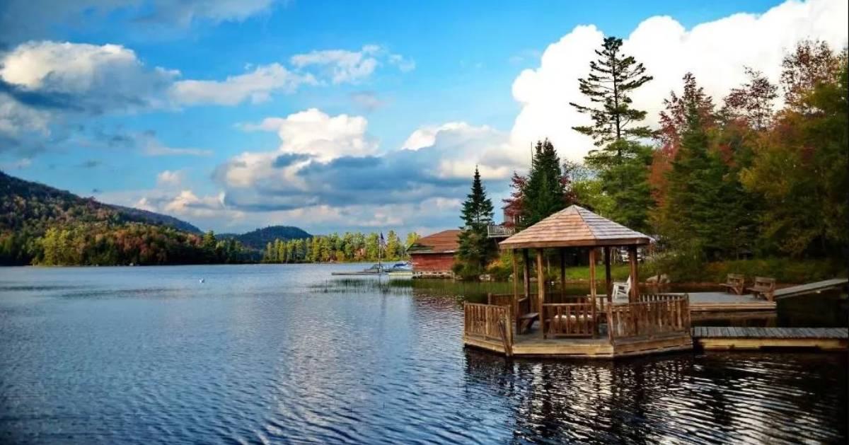 lake in the fall