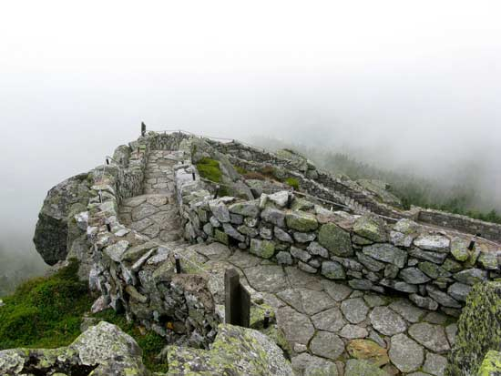 stairs made of stone and rock on Whiteface mountain