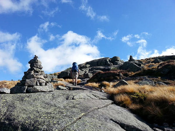 hiker in the adirondacks