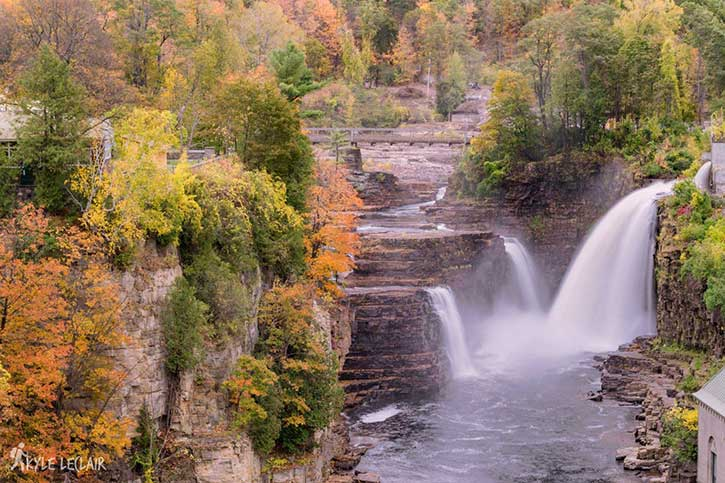 fall colors at ausable chasm