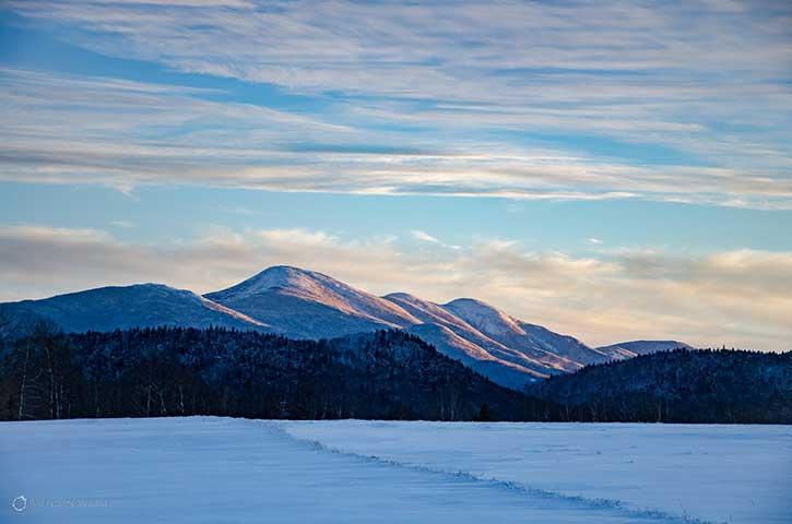 roadside view in the Adirondacks