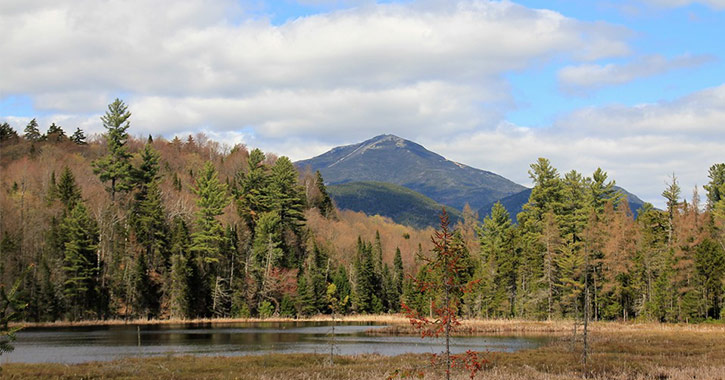whiteface mountain as seen from connery pond