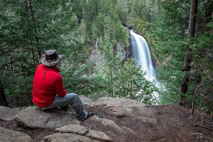man admiring ok slip falls