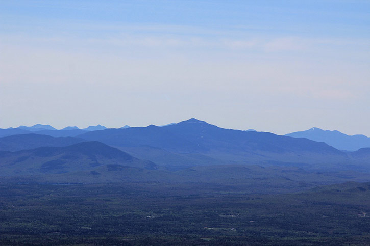 view of the high peaks in the adirondacks