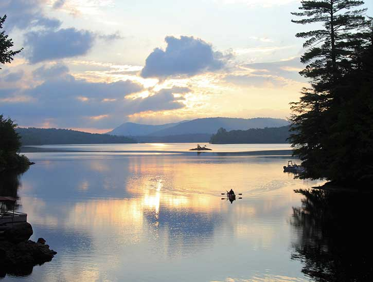 fisherman on indian lake
