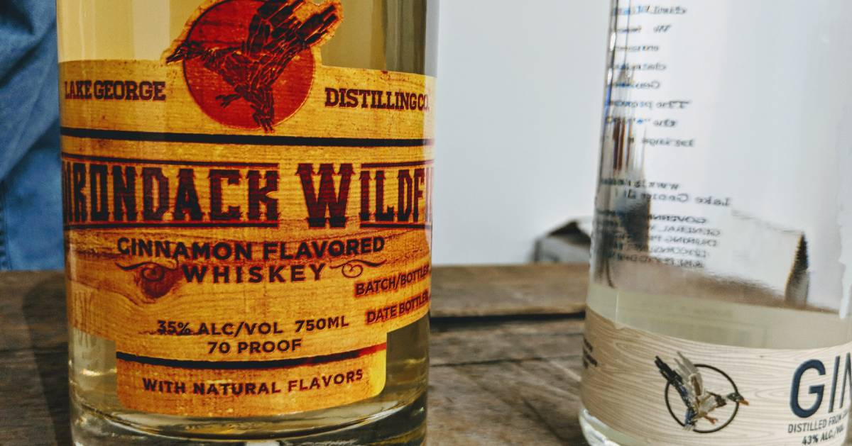 close up of Wildfire whiskey