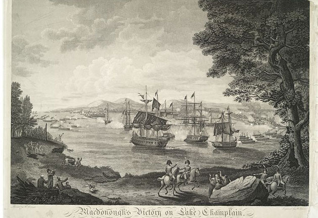 battle of plattsburgh engraving