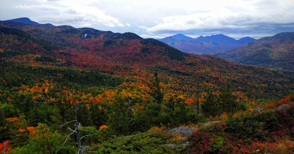 the view from baxter mountain in the fall