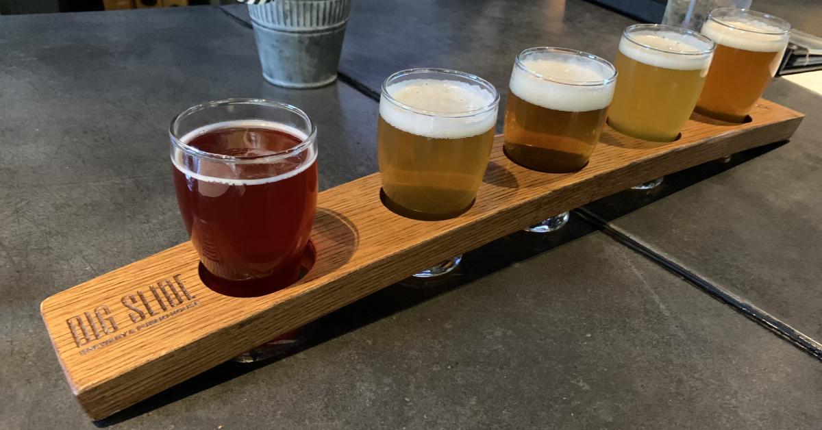 beers at big slide brewery