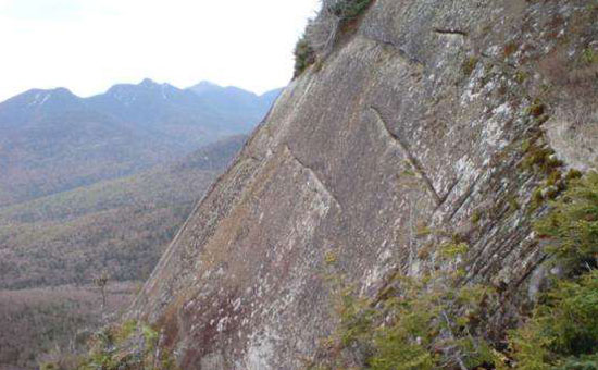 cliff of big slide mountain