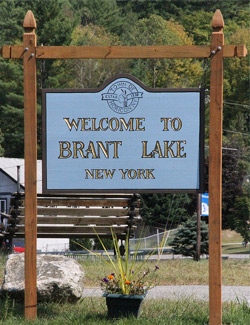 brant lake ny sign
