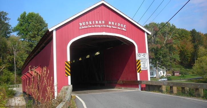 buskirk covered bridge front