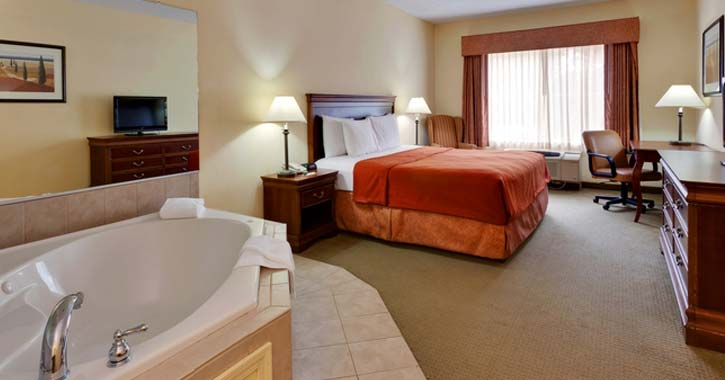 whirlpool inside a bedroom