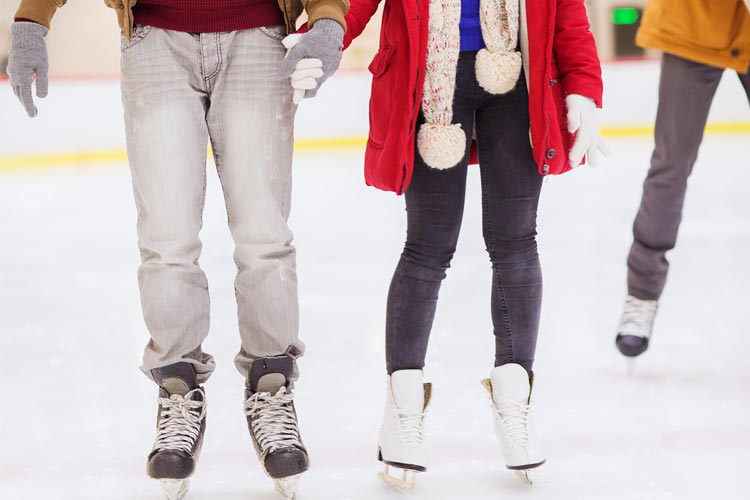 couple skating