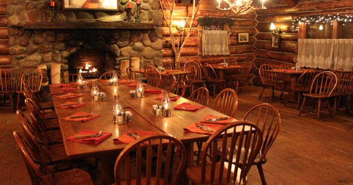 rustic restaurant area