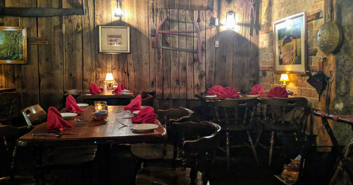 large rustic dining room