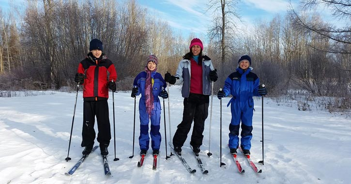 group of cross-country skiers