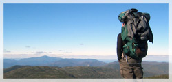 Hiker Overlooking Gore Mountain