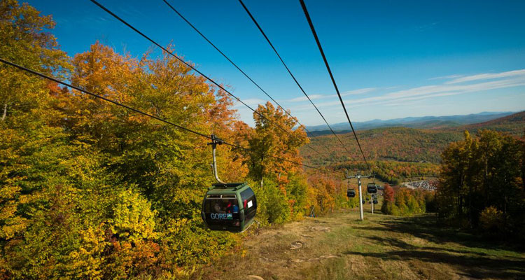 the gondola at gore in fall