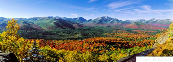 View of the Adirondack Mountains in the Fall by Carl Heilman