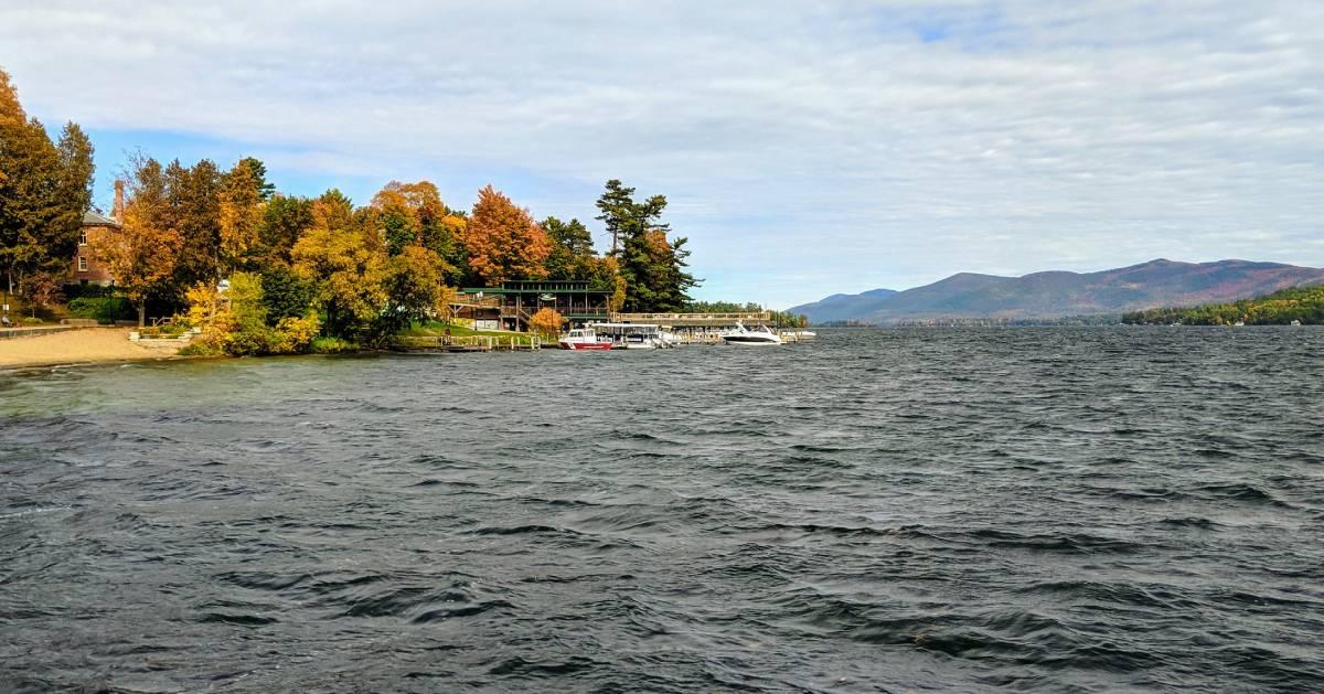 fall at a lake