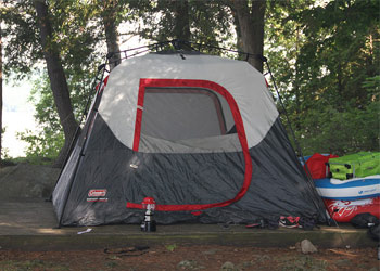 tent outdoors